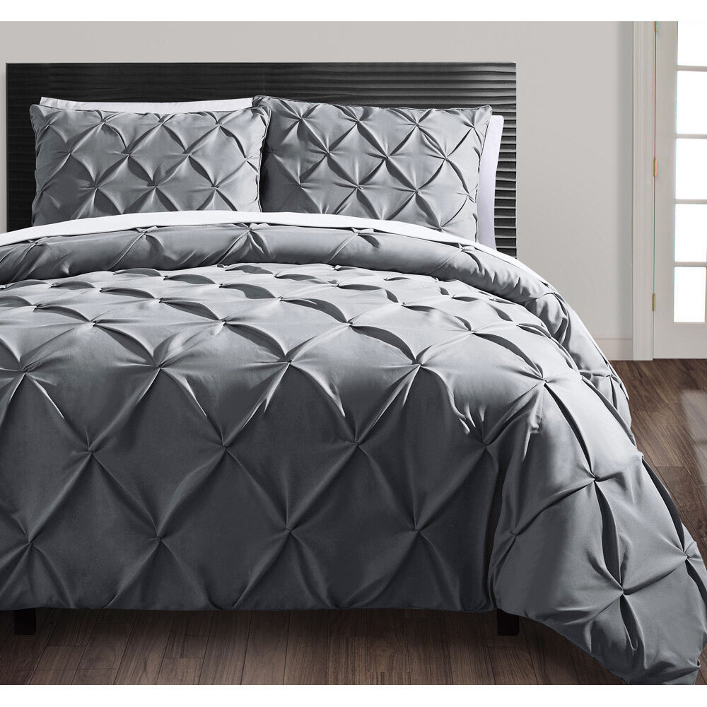 Beautiful Textured Ruffled Modern Duvet Cover Shams Set