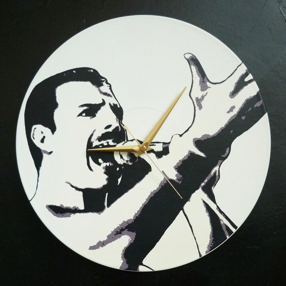 39 freddie mercury queen 39 12 lp vinyl record wall clock for Vinyl record wall art