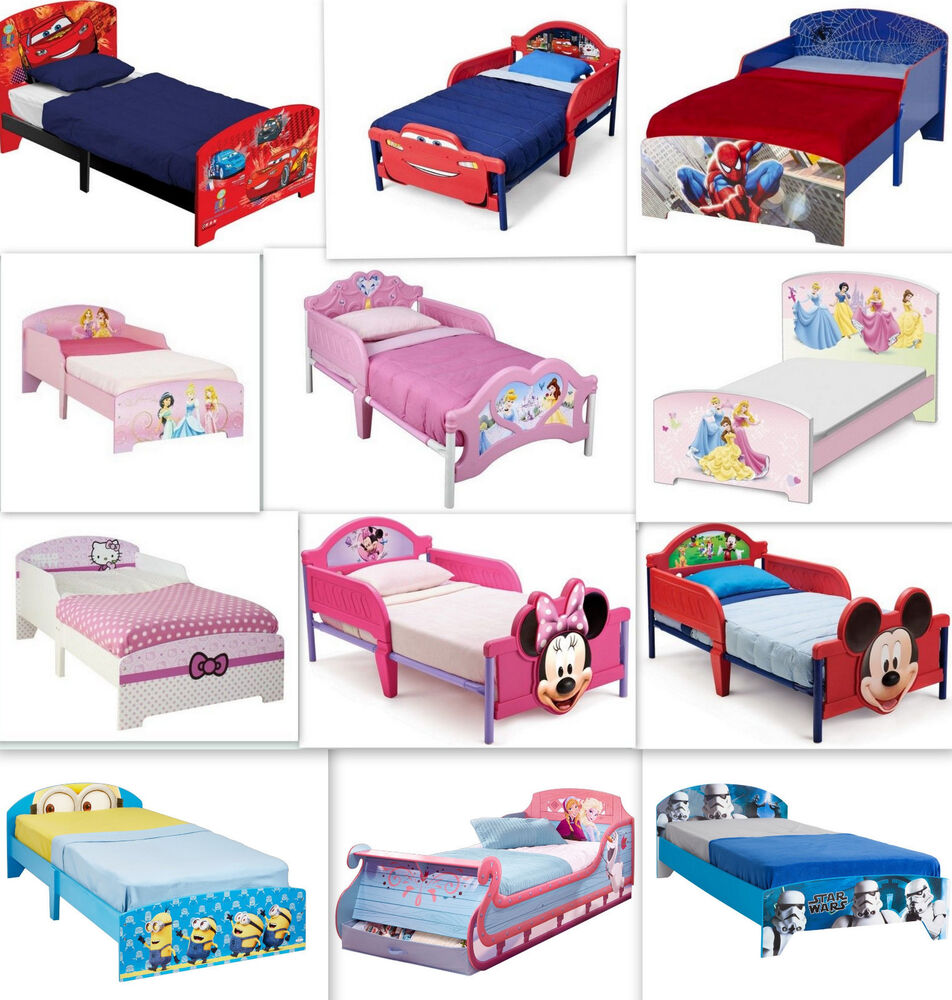 disney kinderbett auswahl cars frozen minion kinderzimmer m dchen jungen bett ebay. Black Bedroom Furniture Sets. Home Design Ideas