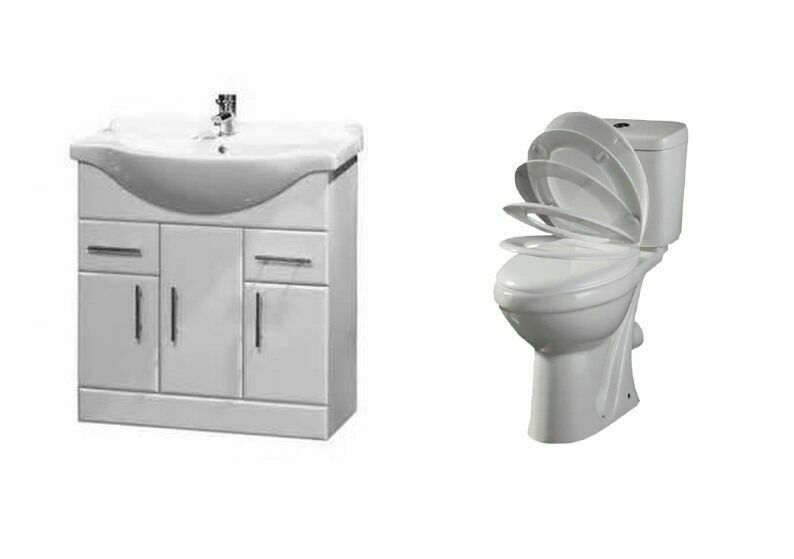 Bathroom Vanity Unit Ceramic Sink Basin Cabinet Storage