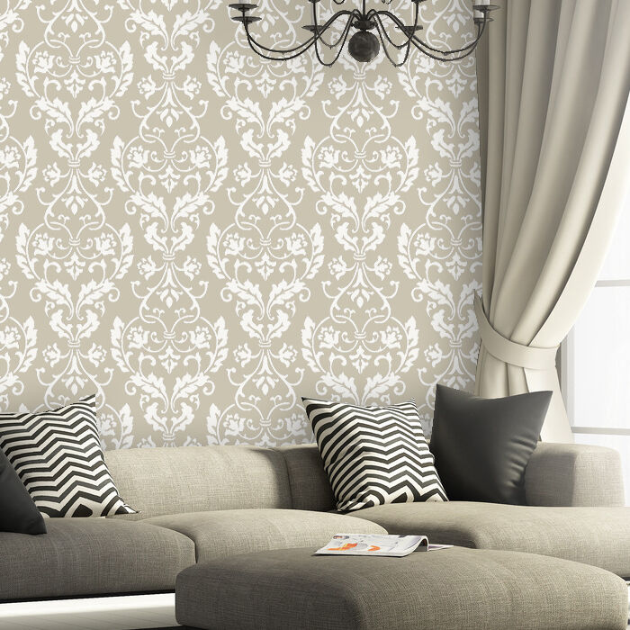 Wall Stencil Large Damask Leonard Stencils Better Than