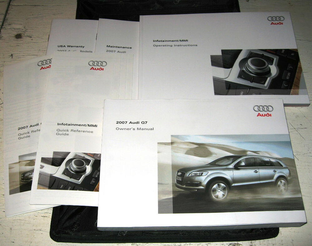 2007 Audi Q7 Owners Manual Set 07 W Case Mmi Navigation