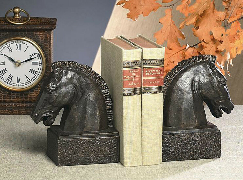 Bookends horse head bookends horse book ends for Horse decorations for home