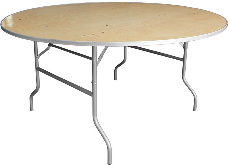 60 39 39 round wood folding banquet table with metal edges ebay for 0 60 table