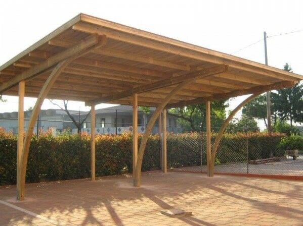 Carport in legno 6x5x2 70 copertura per 2 auto gazebo for 2 5 car garage cost