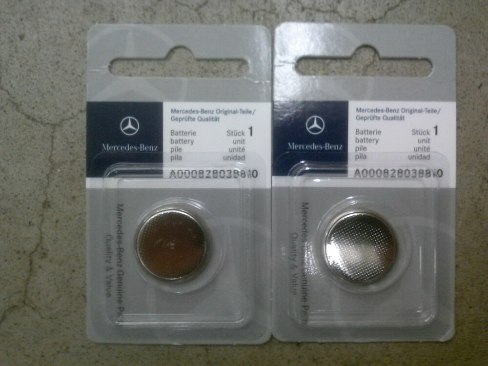 genuine oem mercedes benz remote keyless key entry battery 2 pack ebay. Black Bedroom Furniture Sets. Home Design Ideas