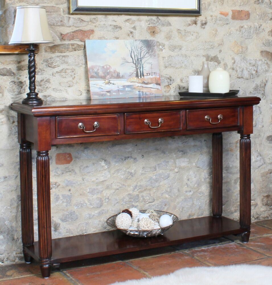 Chateau Solid Mahogany Furniture Console Hallway Hall Side
