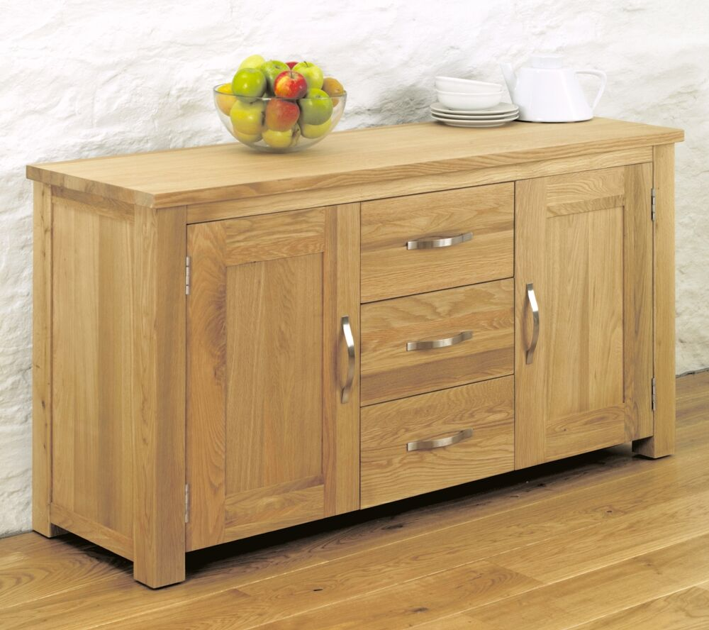 Salisbury Oak Home Furniture Living Dining Room Large Sideboard Ebay
