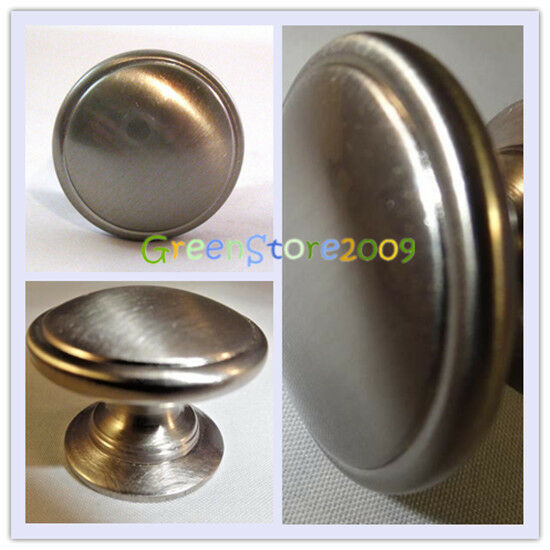 brushed nickel kitchen cabinet drawer door bar handle pull knob ebay. Black Bedroom Furniture Sets. Home Design Ideas