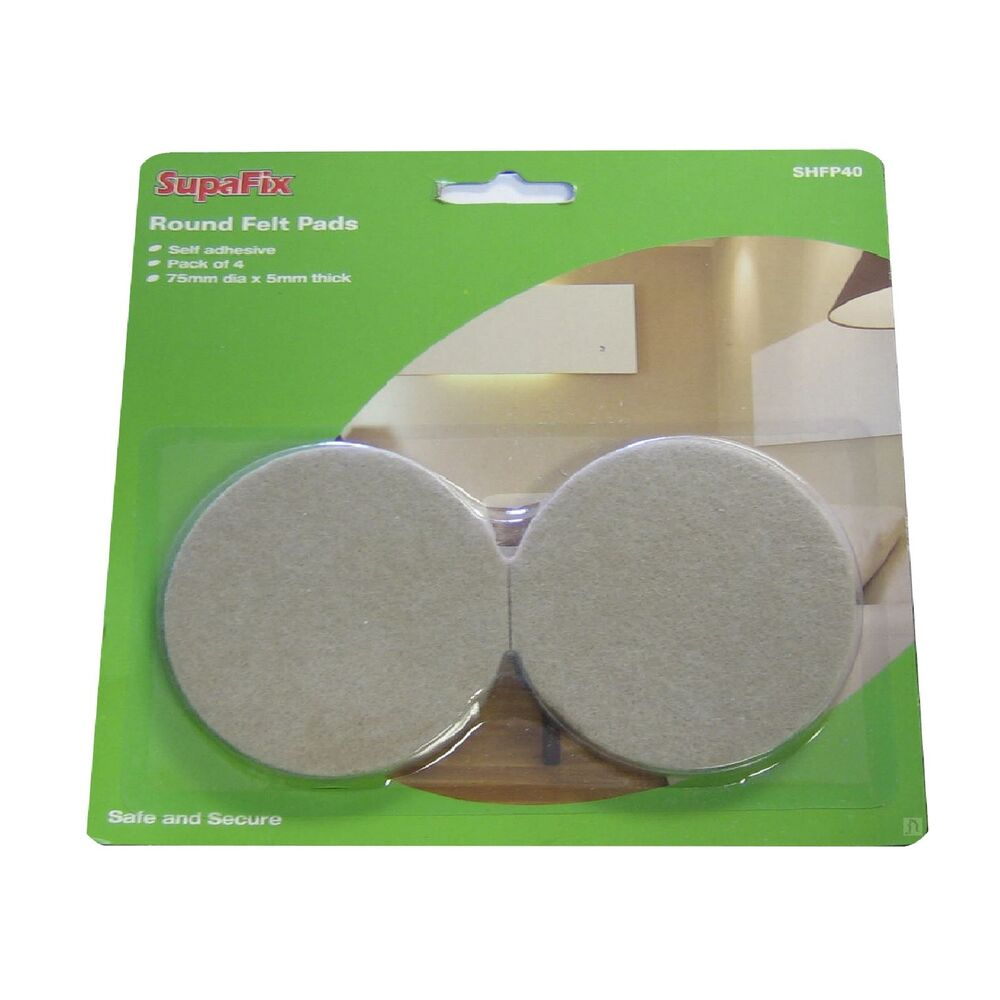 4 X Self Adhesive Felt Pads Guards Furniture Floor Protection Chairs Laminate Ebay