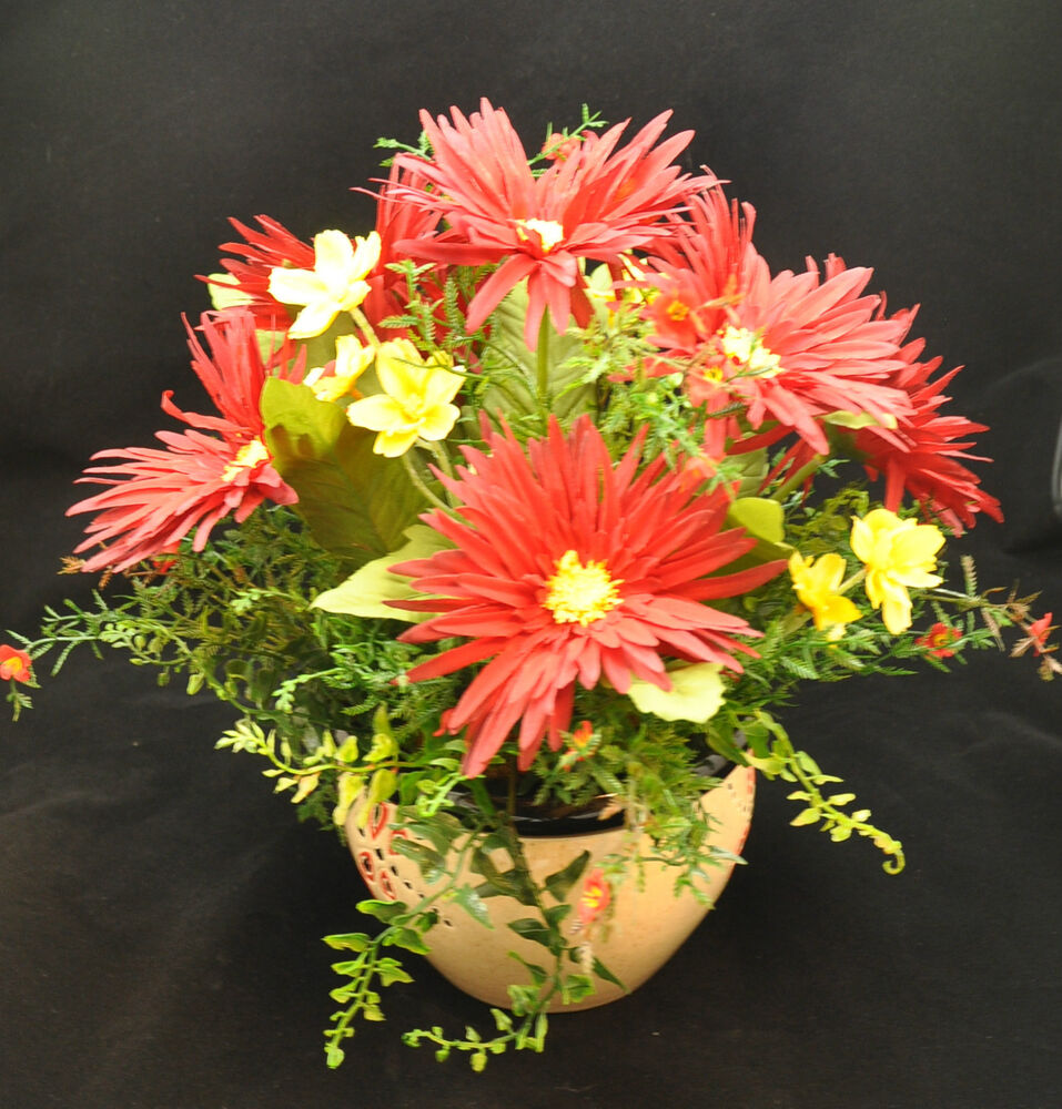 Red And Yellow Floral Arrangement Ebay