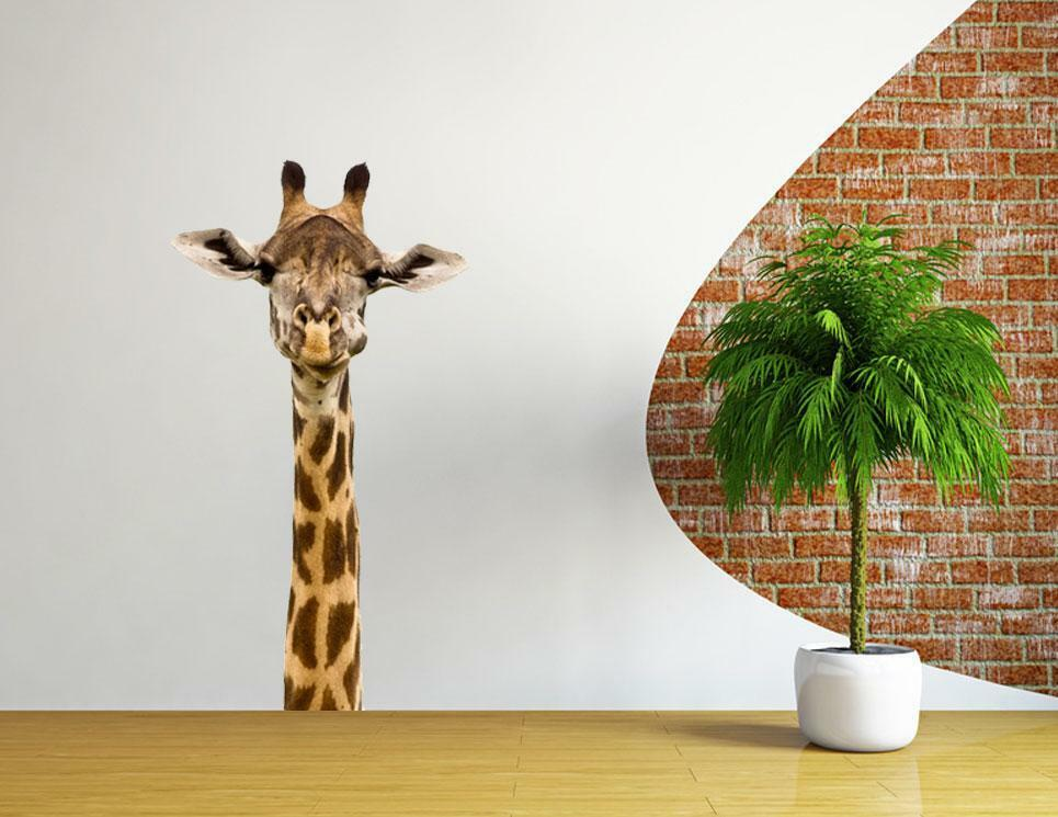 African giraffe wall decal vinyl sticker decor animal lion for Animal wall decoration