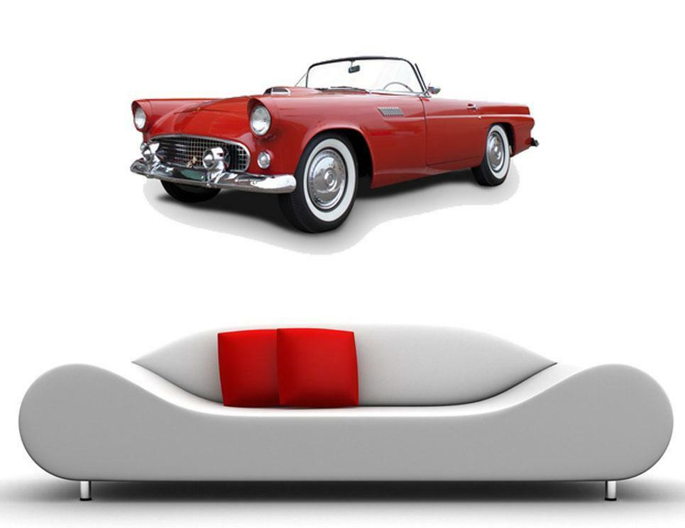 wall vinyl decal old classic hot sticker interior design car logo quotes floral ebay. Black Bedroom Furniture Sets. Home Design Ideas