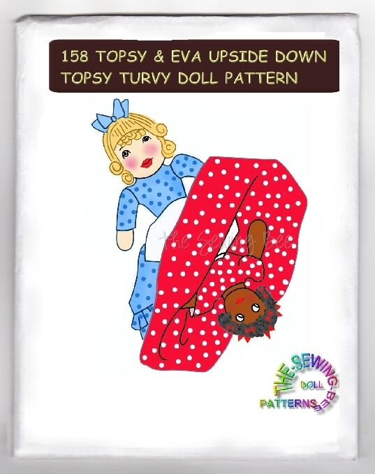 Knitting Pattern For Upside Down Doll : Topsy & Eva Doll Pattern -Topsy Turvy - Upside Down Dolls eBay
