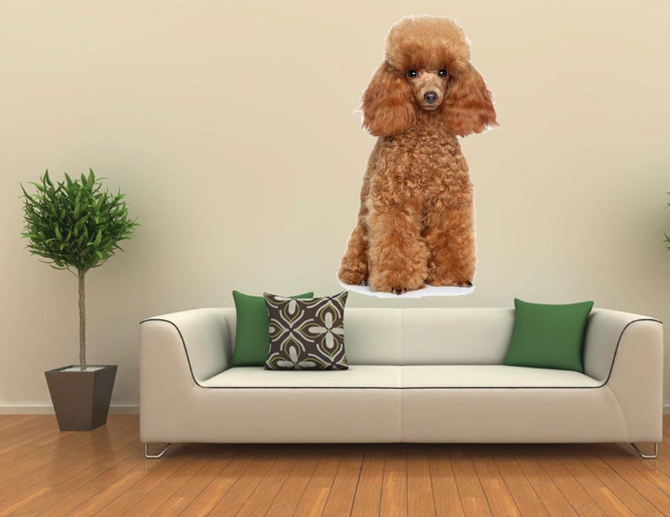 Poodle Wall Art Decor Removable Mural Decal Sticker Car