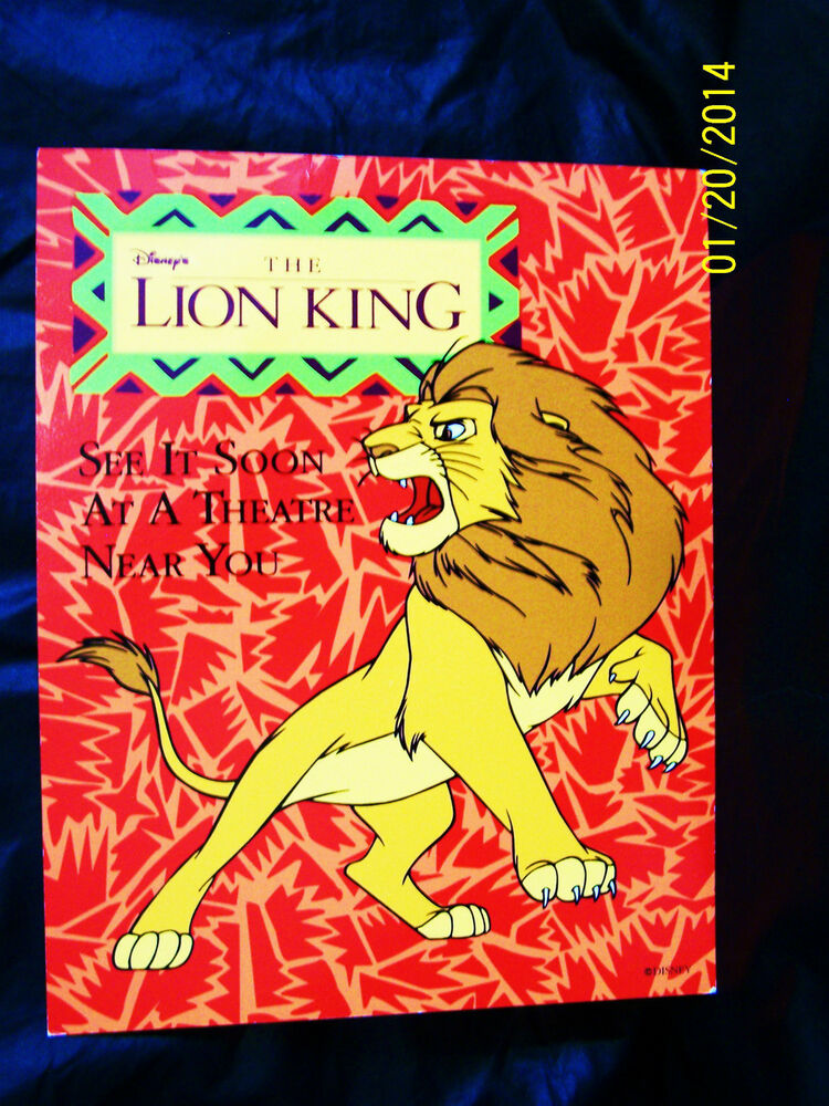 the lion king 1994 cardboard movie poster double sided 14