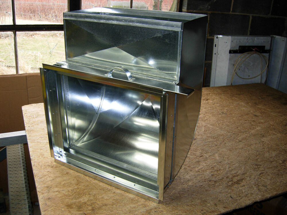 Furnace Air Ducts : Sheet metal return air shoe with filter rack heating