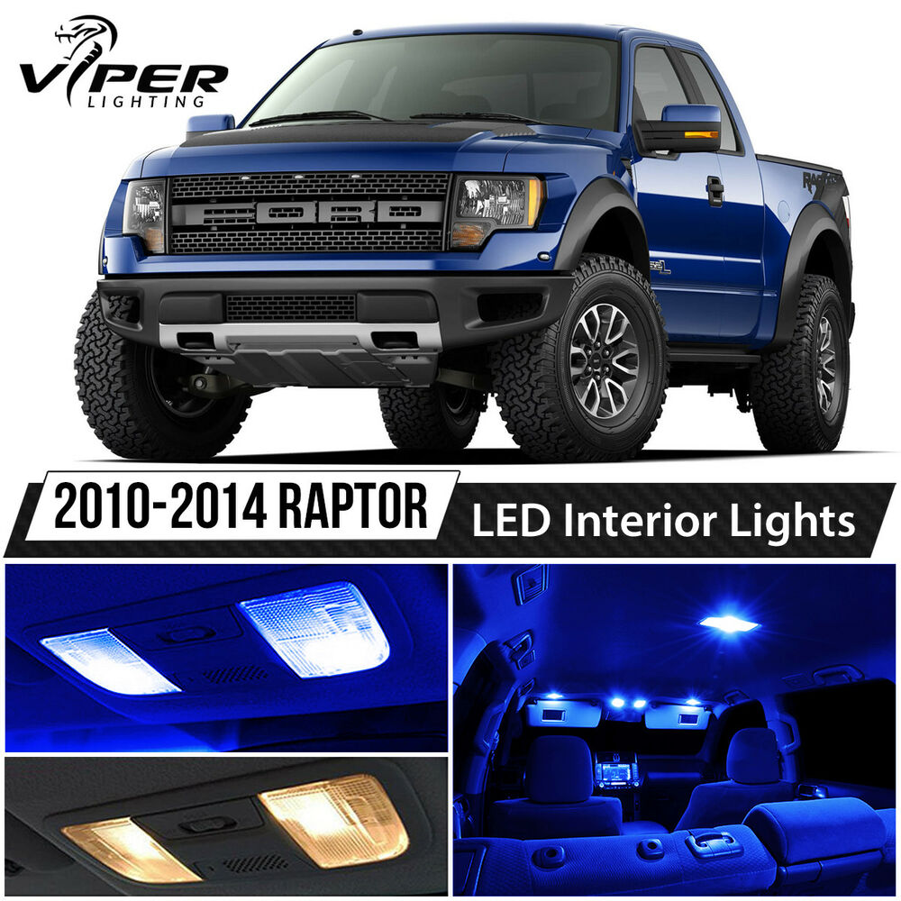 2010 2014 Ford F150 Svt Raptor Blue Led Lights Interior Package Kit Ebay