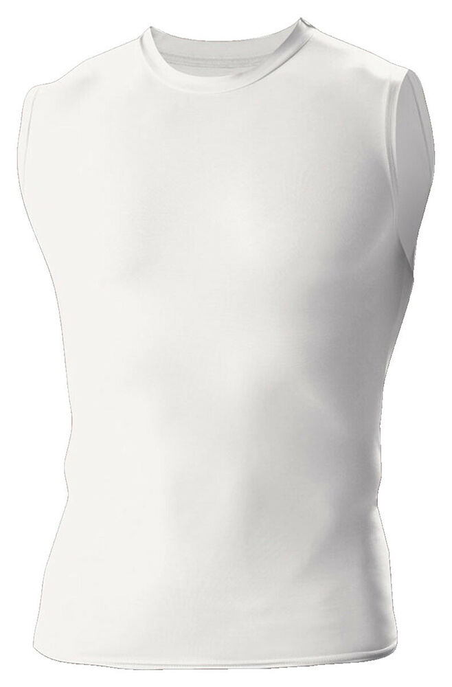 A4 Men 39 S Moisture Wicking Sleeveless Compression Muscle T