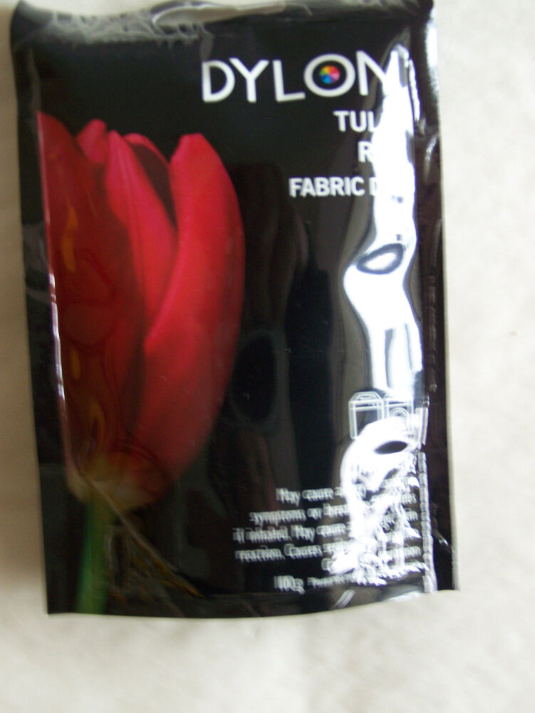 dylon tulip red fabric dye natural and polyester 3 1 2 oz ebay. Black Bedroom Furniture Sets. Home Design Ideas