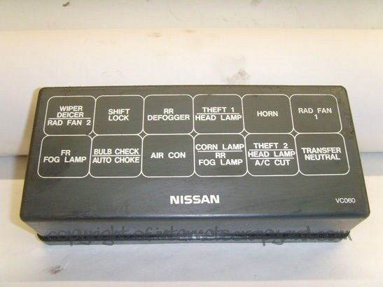 nissan patrol 3 0 manual y61 97 13 relay fuse box top cover trim panel ebay