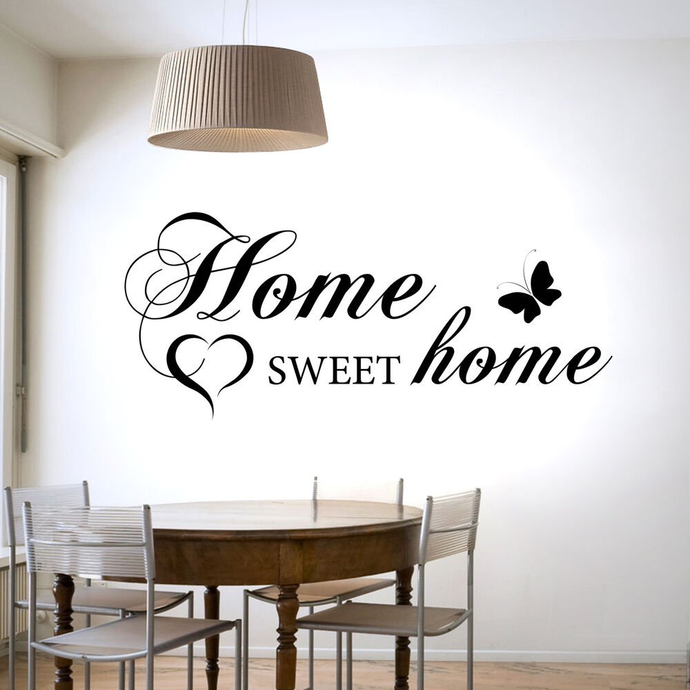 HOME SWEET HOME WALL STICKER VINYL DECAL TRANSFER HOME ...