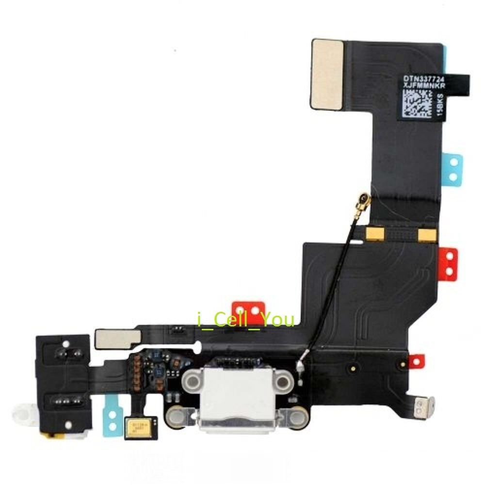 white headphone audio charger charging data usb dock port flex cable iphone 5s ebay. Black Bedroom Furniture Sets. Home Design Ideas