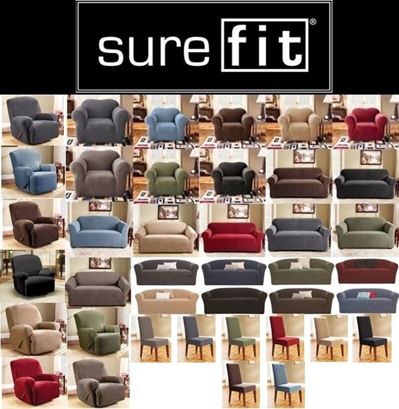 Surefit Stretch Couch Sofa Lounge Covers Recliner 1 2 3 Seater