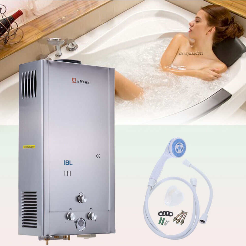 18l lpg gas durchlauferhitzer boiler wasserboiler hei wassertherme water heater ebay. Black Bedroom Furniture Sets. Home Design Ideas