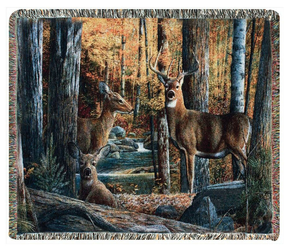 Throws Quot On High Alert Quot Tapestry Throw Deer Throw