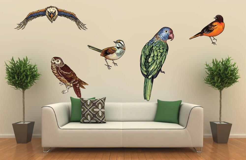 American eagle bird wall art decor decal sticker removable for Bird wall mural