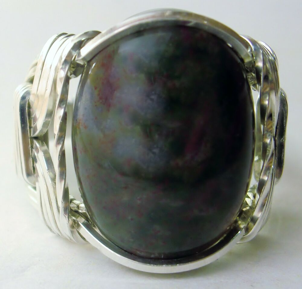 bloodstone gemstone ring sterling silver mens 3 ebay