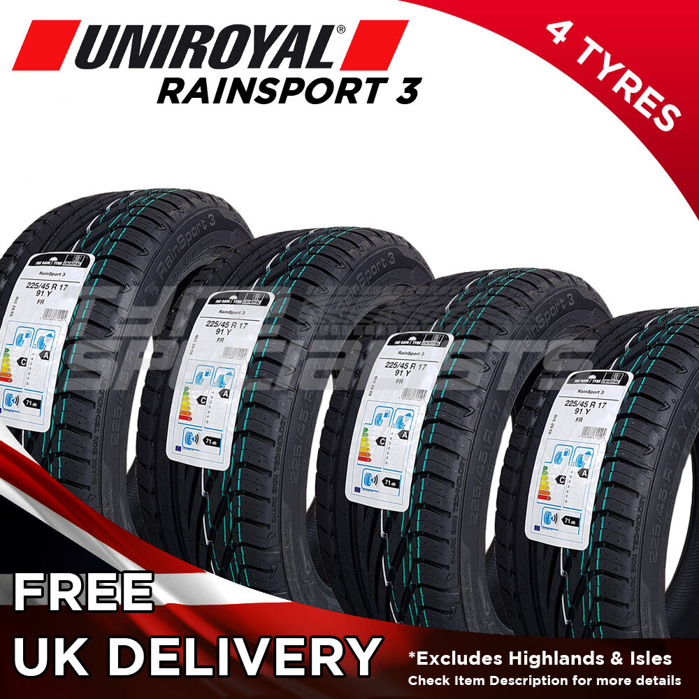 4x new 225 45 17 uniroyal rainsport 3 225 45r17 91y 4 tyres max wet grip tyre ebay. Black Bedroom Furniture Sets. Home Design Ideas