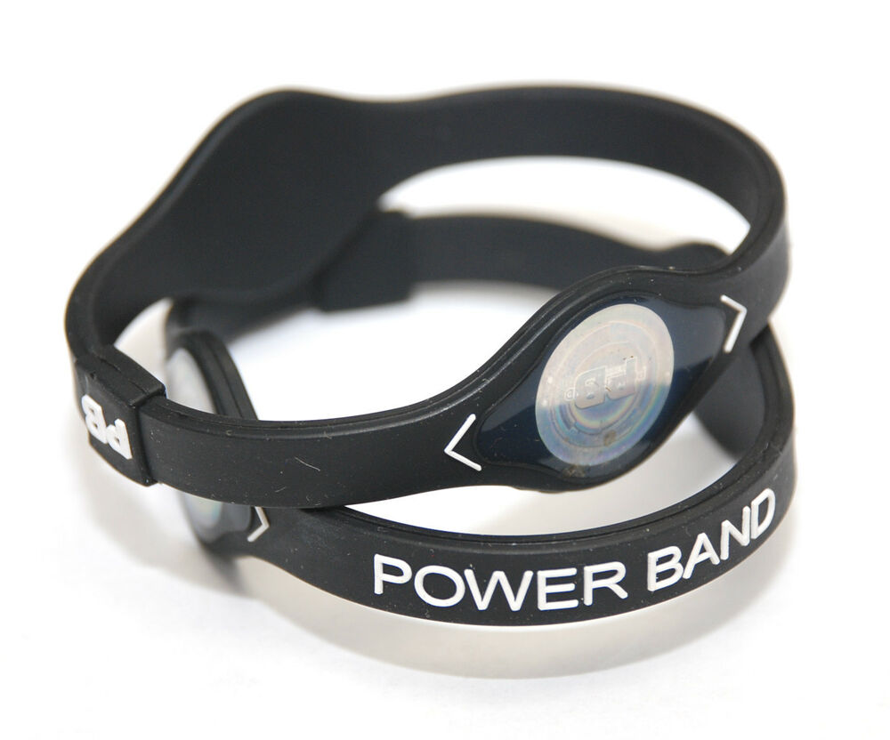 power bracelet 2pcs medium black power band ion hologram bracelet 8425