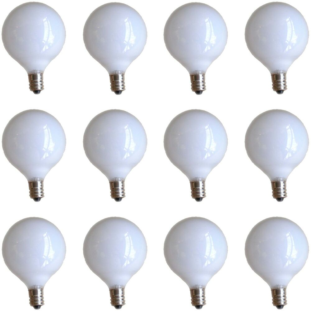 12 Ge 25w G16 5 Small White 2 Inch Globe Light Bulb