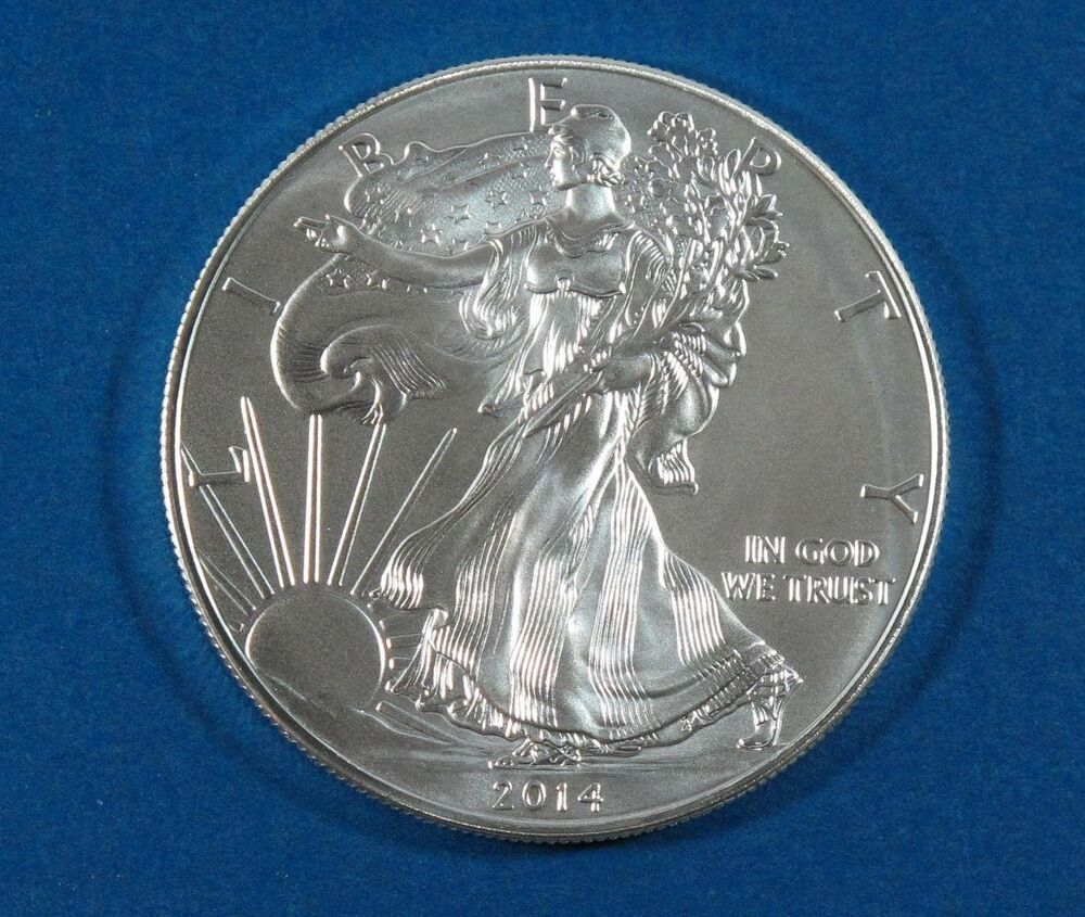 2014 American Silver Eagle Walking Liberty Coin 1oz 999