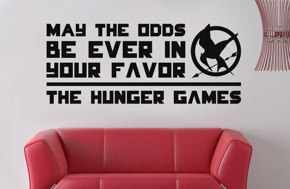 Hunger Games May The Odds Quote Decal Vinyl Wall Sticker