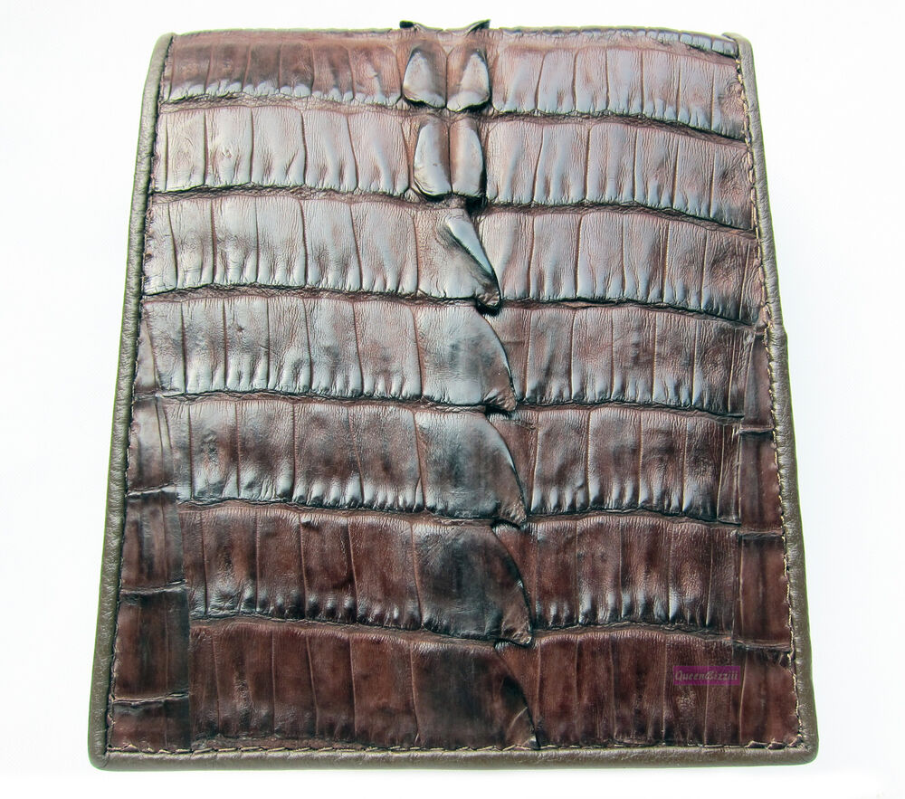 Kango Brown Genuine Crocodile Alligator Tail Skin Leather