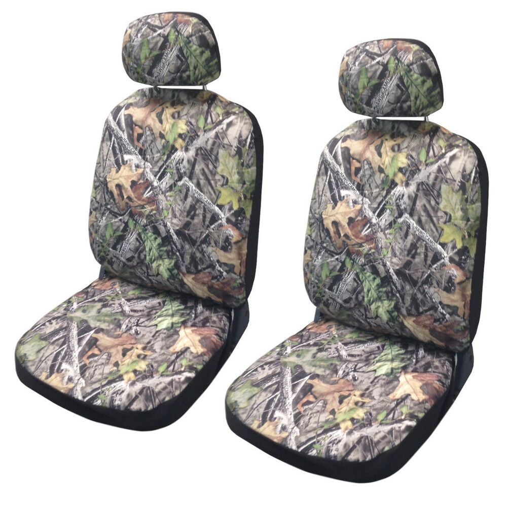 forest gray camo seat covers front pair camouflage for toyota tacoma ebay. Black Bedroom Furniture Sets. Home Design Ideas