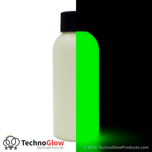 brightest green glow in the dark uv acrylic paint available free applicator tip ebay. Black Bedroom Furniture Sets. Home Design Ideas