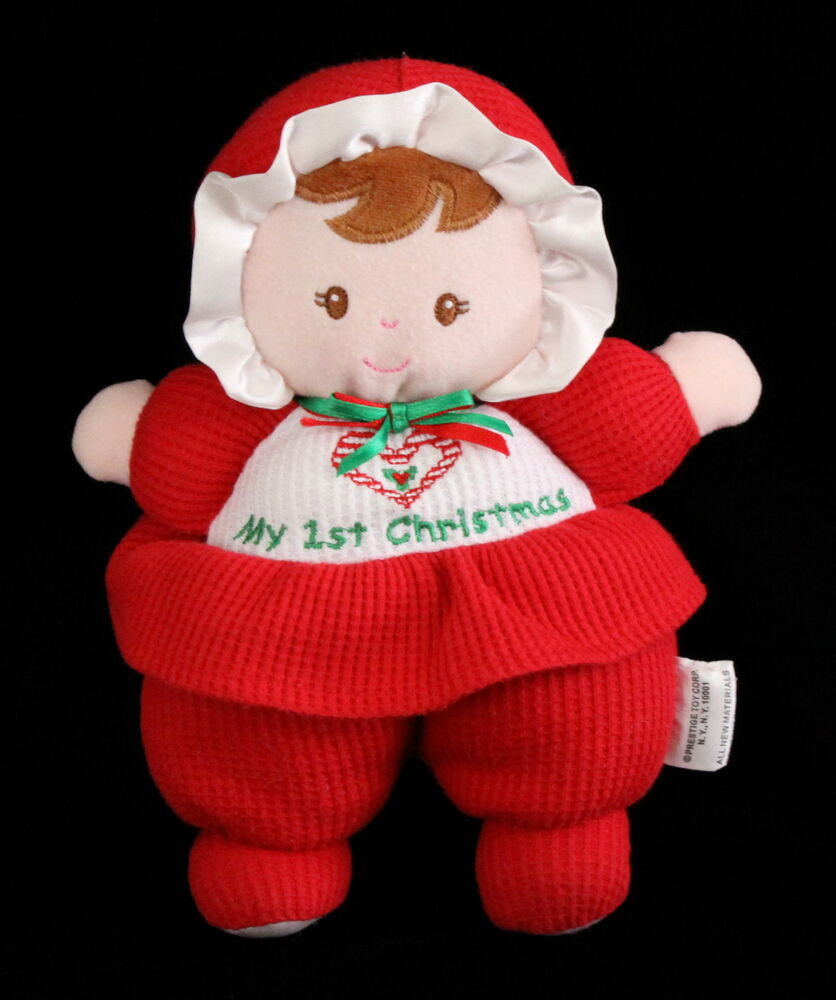 Prestige My First Christmas Plush Baby Doll Plush Toy Euc
