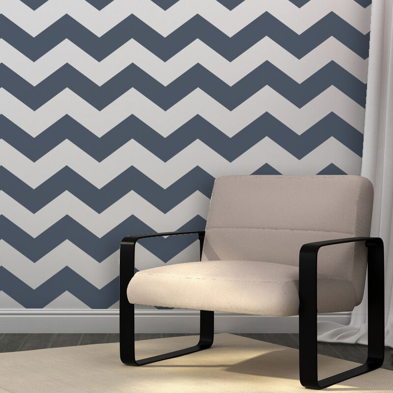 Chevron Allover Stencil -set(2 sheets)- for DIY wall decor ...