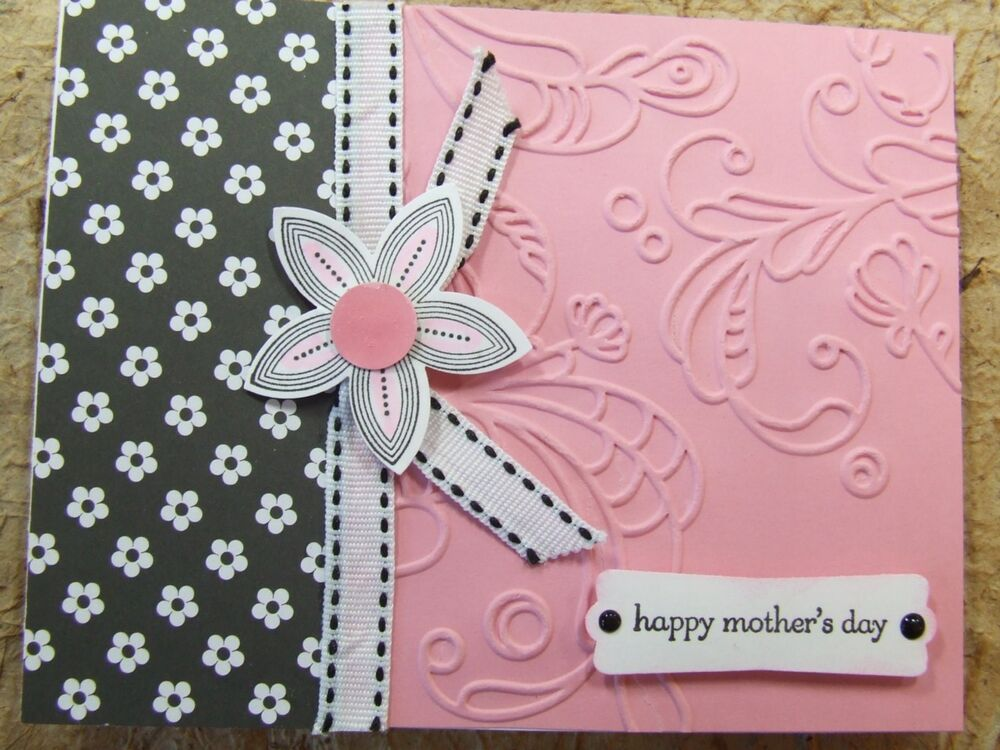 Handmade Mothers Mother 39 S Day Card Embossed Using Stampin
