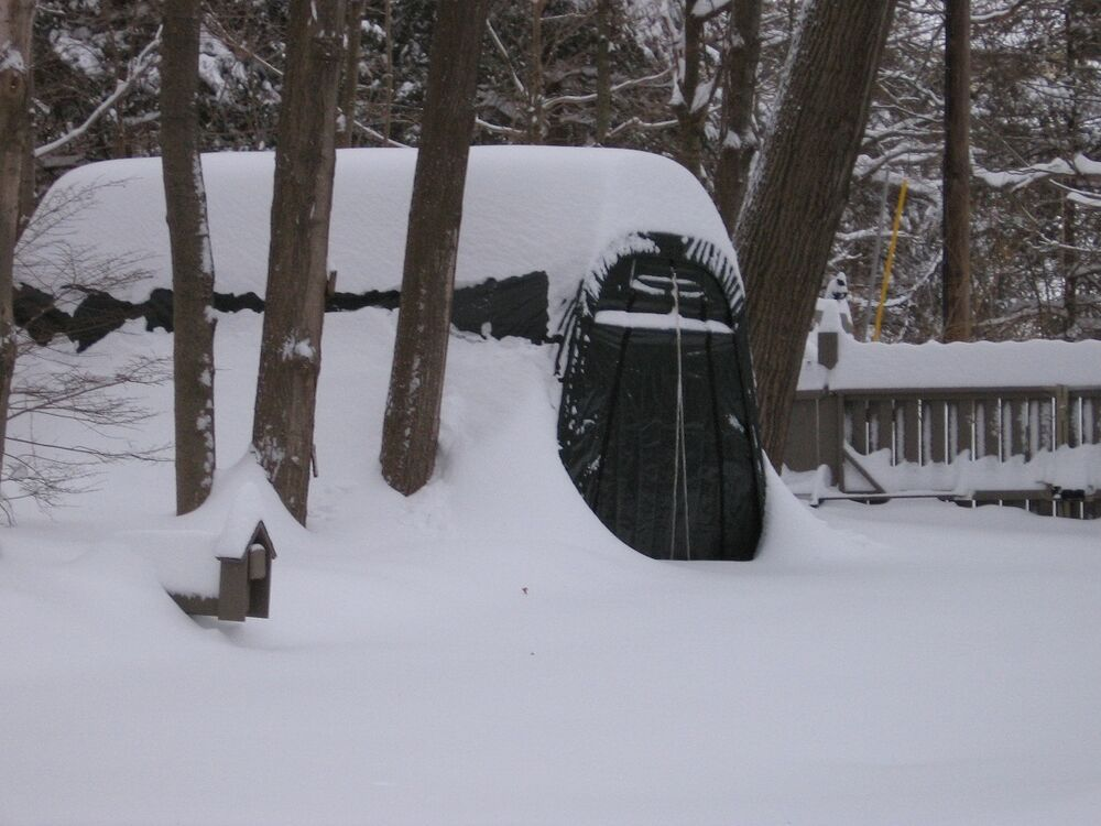 Portable Snow Shelter : Round shelterlogic snow shedding portable garage