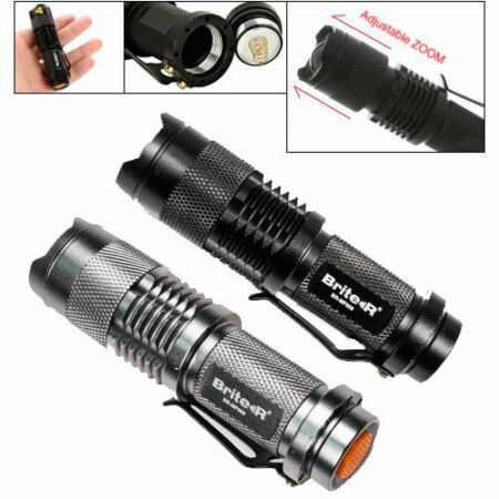 img-CREE XP-E R2 LED Mini Handheld Adjustable ZOOM Pocket Torch Flashlight Lamp Pro
