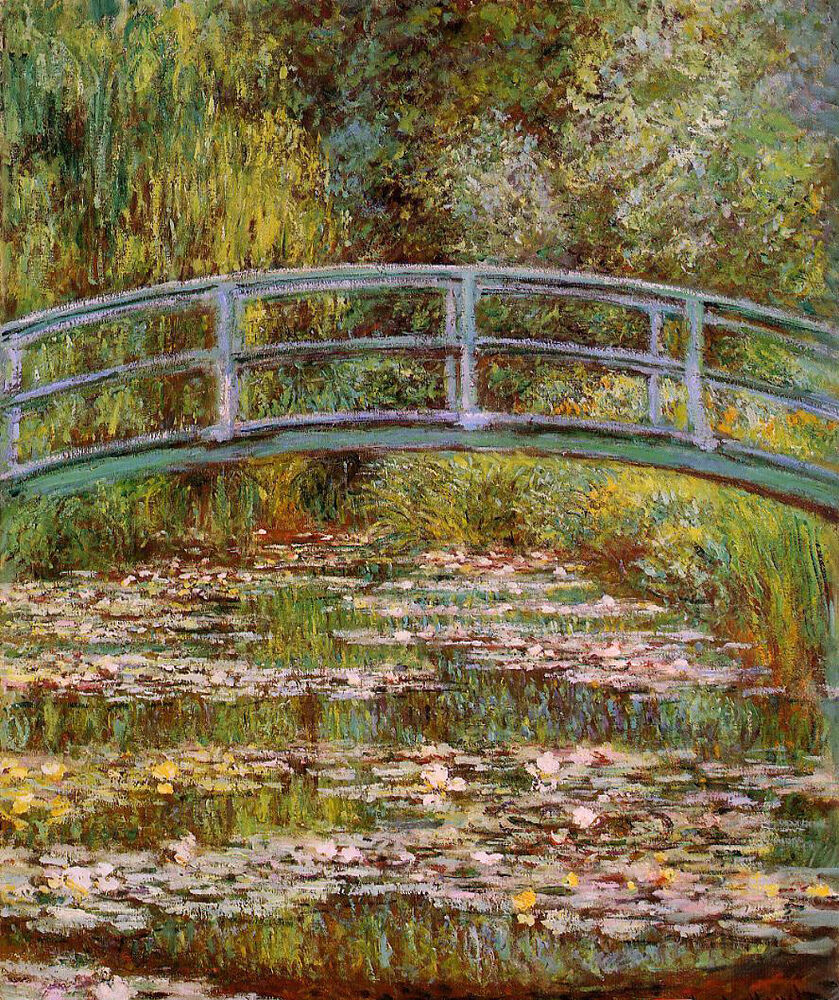 Oil painting claude monet the water lily pond aka for Biographie claude monet