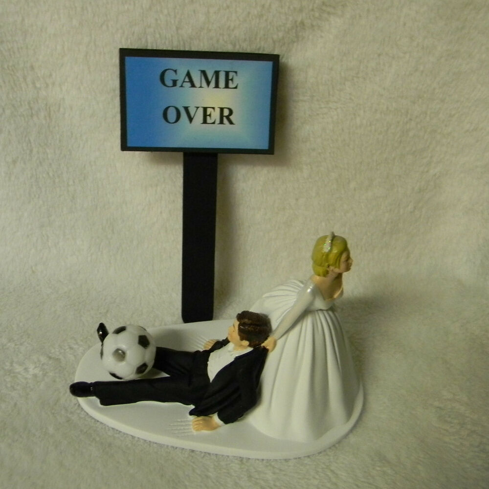 Wedding Party Reception Soccer Ball Game Over Sign