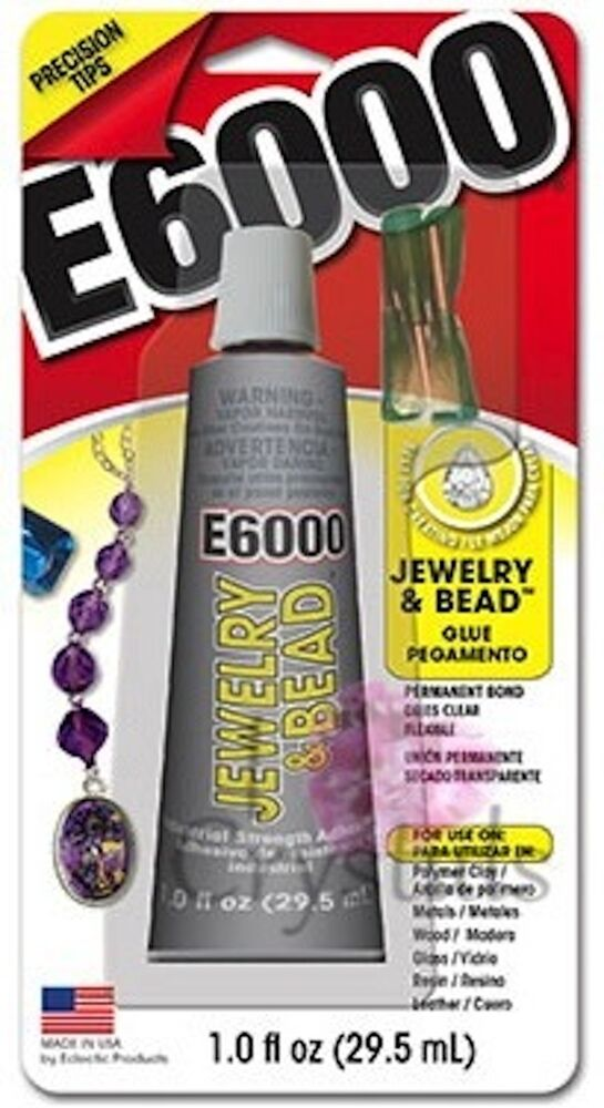 e6000 jewelry bead 1oz w tips adhesive permanent glue