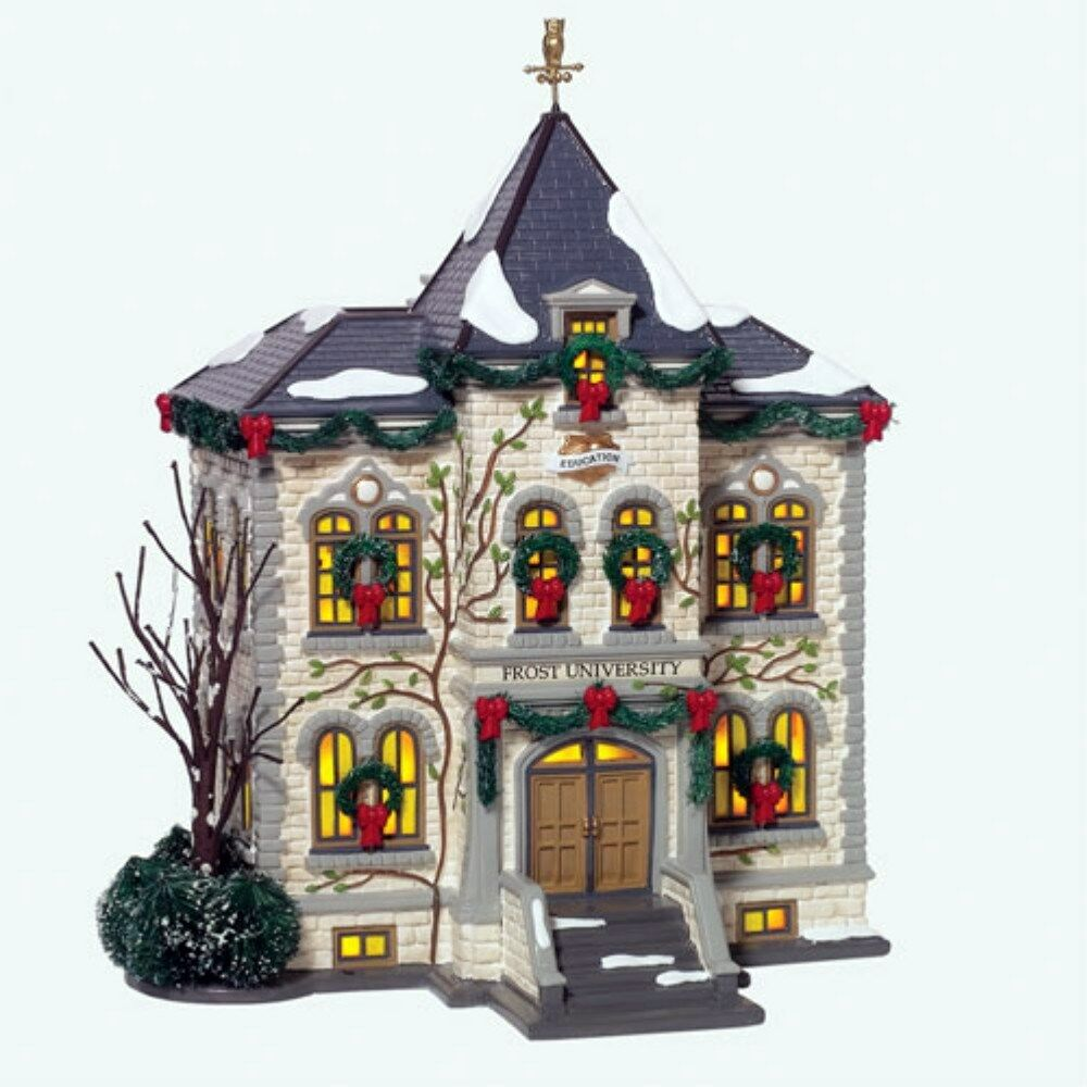 frost university department 56 original snow village 799927 ebay. Black Bedroom Furniture Sets. Home Design Ideas