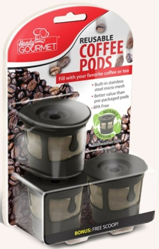 3 Reusable Coffee Pods Tea Pods K Cups Stainless Steel
